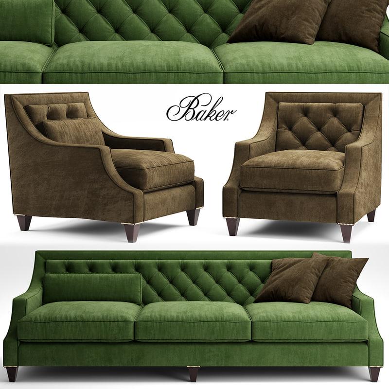 3d sofa tufted model