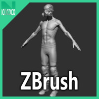 3ds zbrush thug character