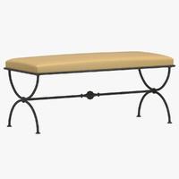 3d model bench 14