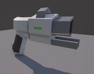 sci fi pistol 3d 3ds
