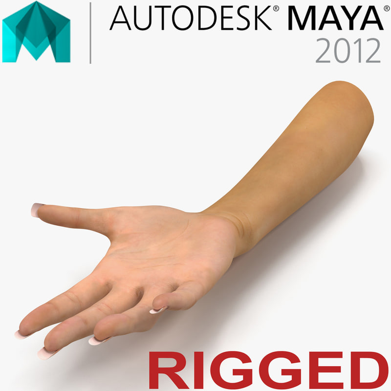 female hand rigged 3d ma