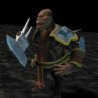 3D gorilla warrior