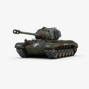 3d ww2 pershing tank m26