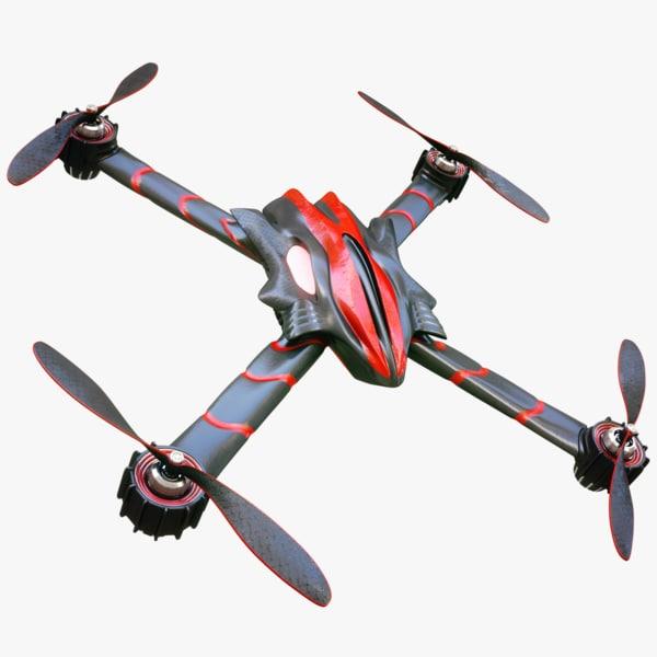 3d model designed drone concept
