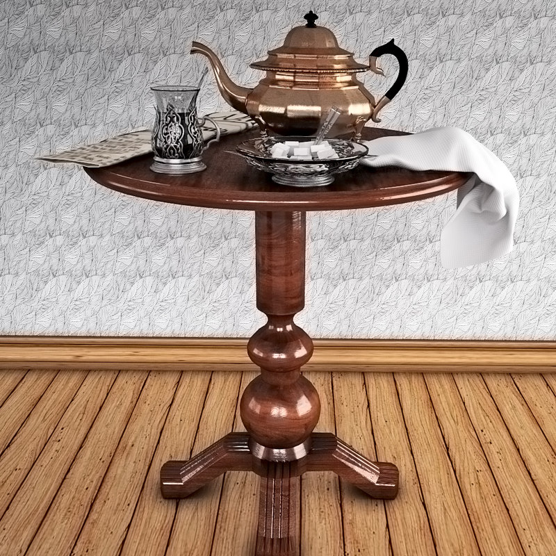 tea table glass 3d model