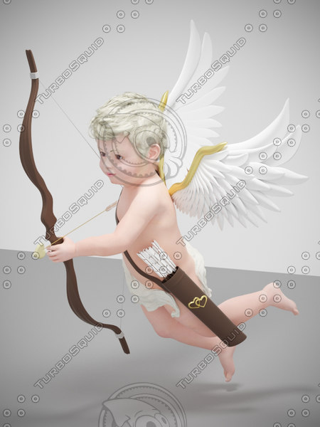 character cute boy flying 3d max