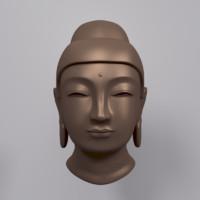 3d model buddha bust