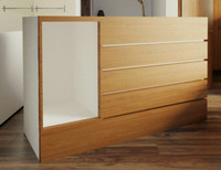 3d model bar counter desk