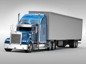 3d truck semi industrial
