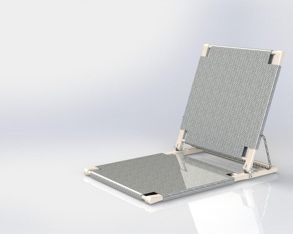solidworks folding chair 3d 3ds