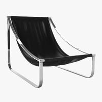 3d model sling chair