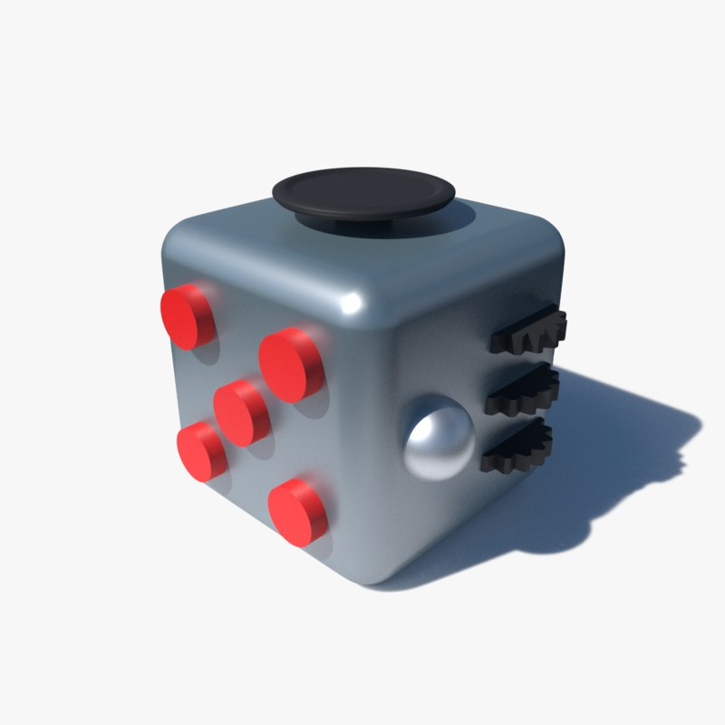 fridget cube 3d obj