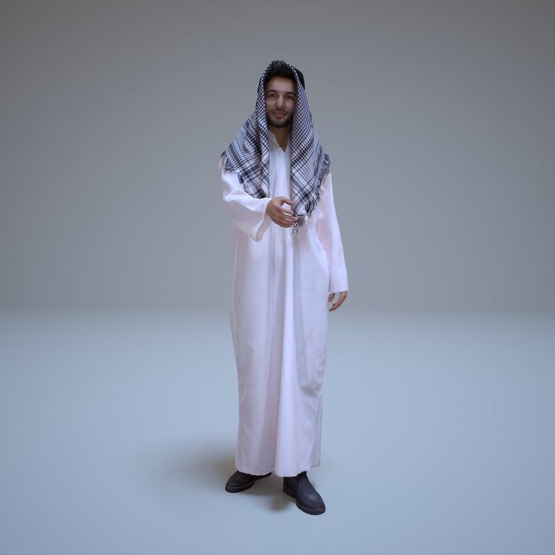 arab businessman people human 3d max