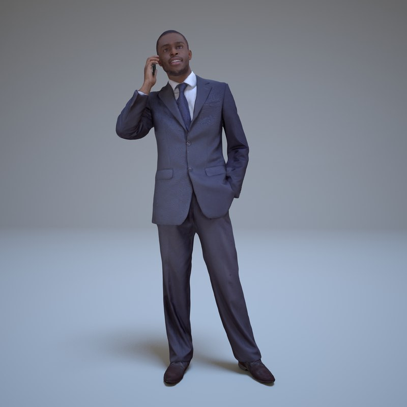 businessman phone people human obj