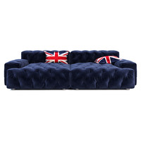 Timothy Oulton Pincushion Sectional Sofa