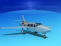 3d model jet fj-100 fanjet piper aerostar