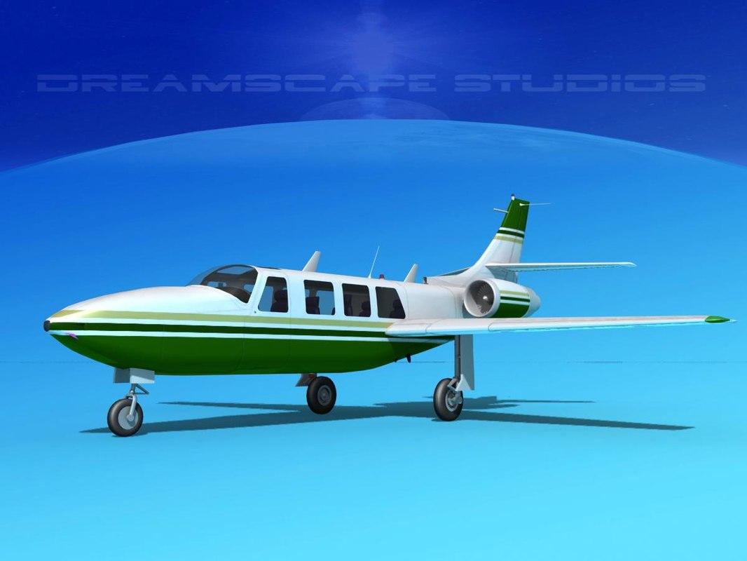 jet fj-100 fanjet piper aerostar dxf