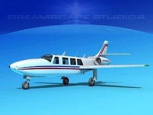 3d jet fj-100 fanjet piper aerostar