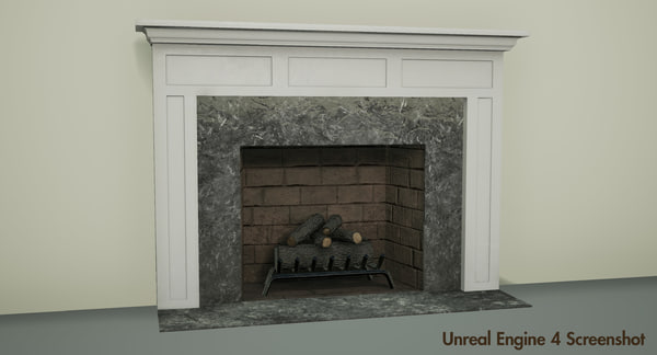 fireplace pbr unreal 3d max