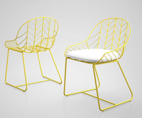 3d model bend dining chair