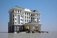 3d max office classical architecture
