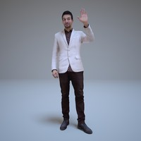 3d model businessman standing human