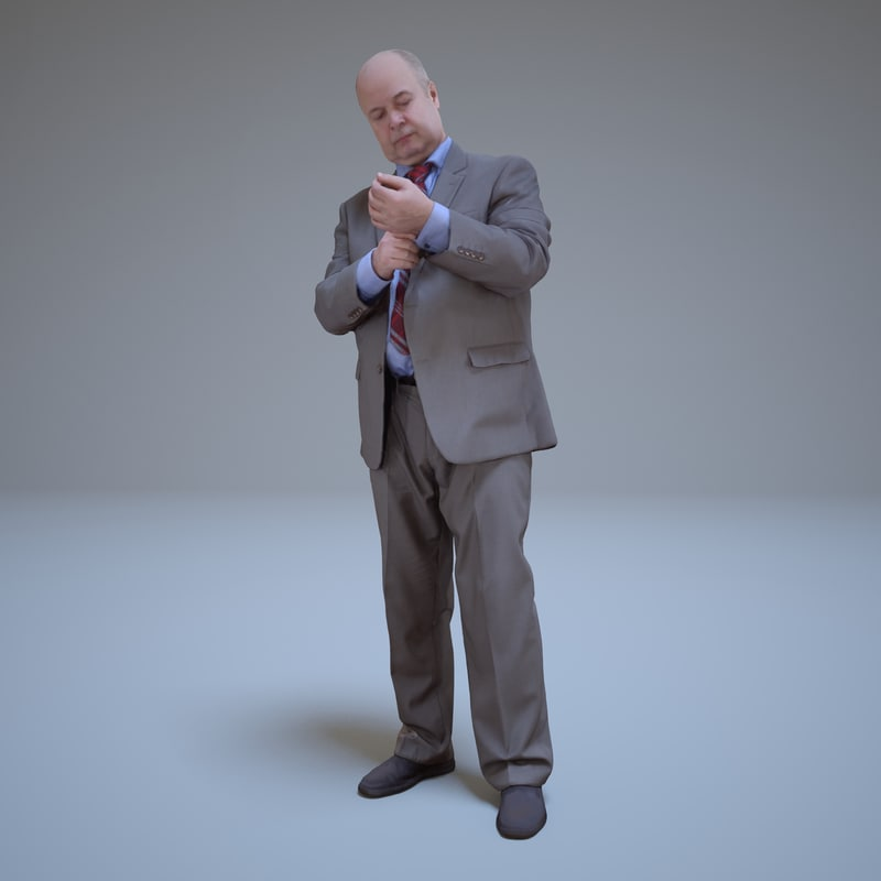 3d standing businessman people human