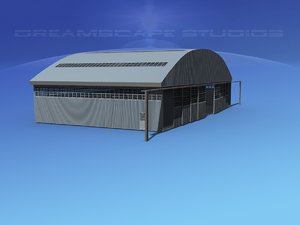 3d large commercial aircraft model