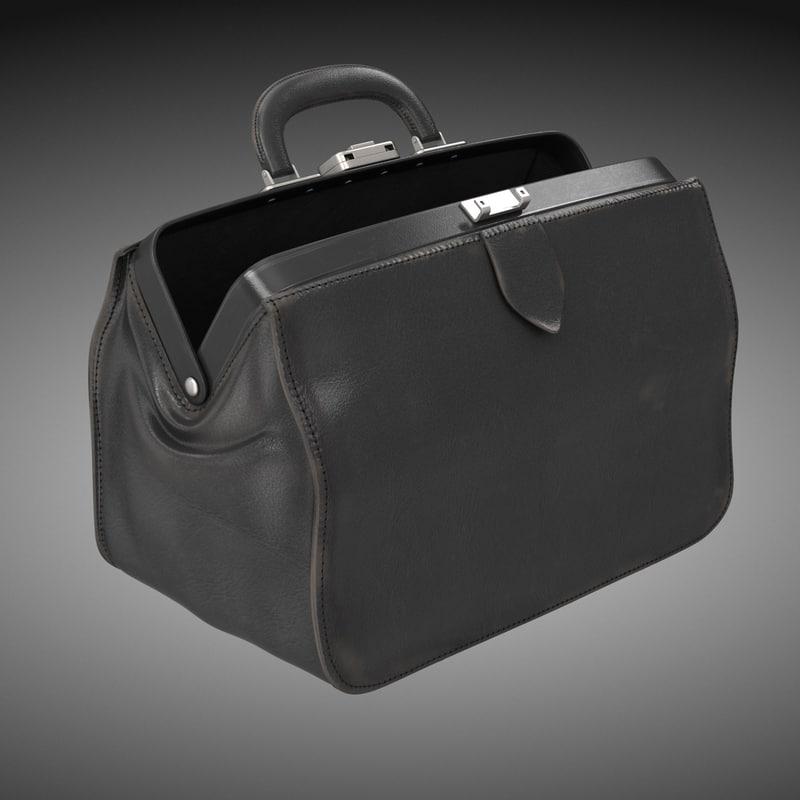 doctors black bag 3d obj