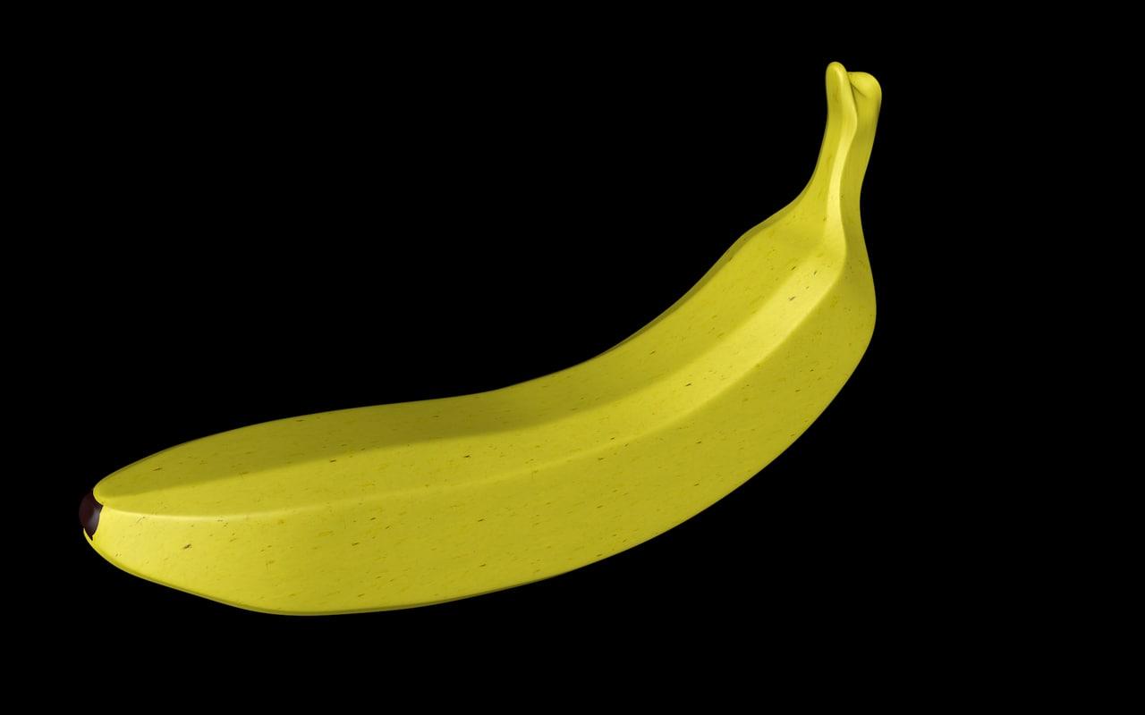 banana 3d c4d