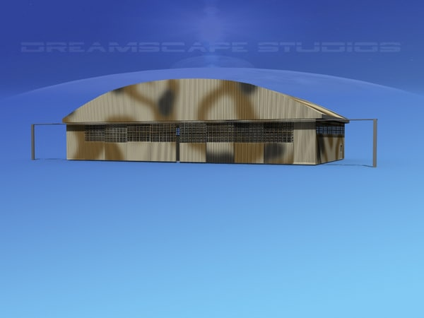 large commercial aircraft 3d model