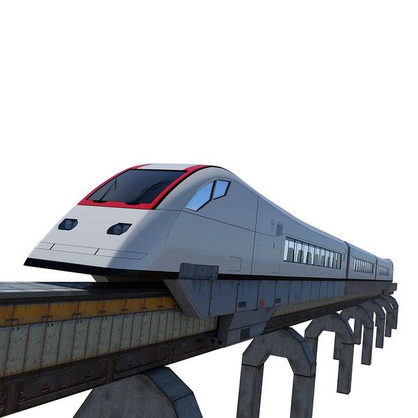 futuristic train sci-fi max