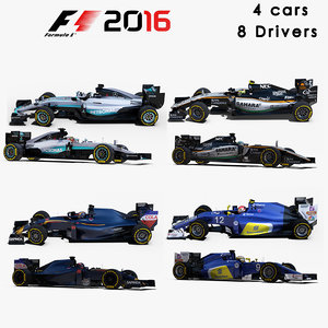 formula 1 2016 3d max