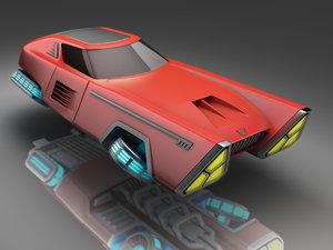 3d model futuristic hover