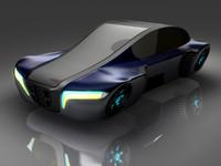 3d futuristic hover