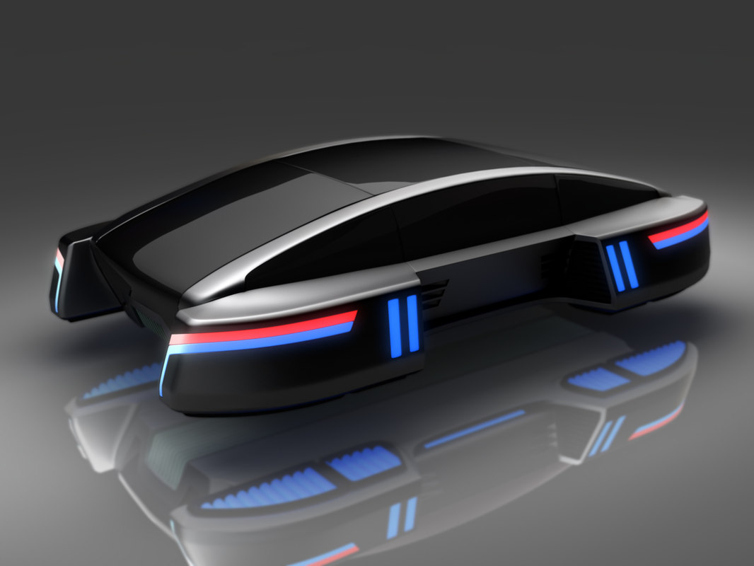 futuristic hover 3d model