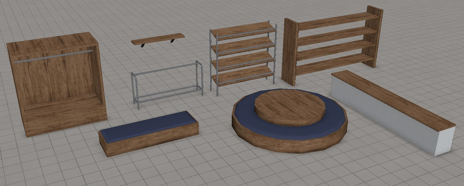 3d model of props shop