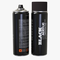 spray bomb paint cans 3d c4d