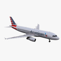 a320 american airlines 3d 3ds
