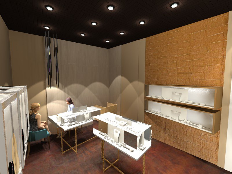 3d model jewellery shop