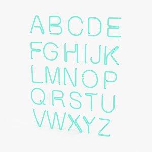 neon alphabet 01 max