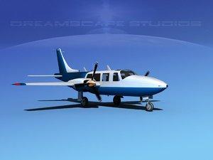 propellers piper 600 aerostar 3d 3ds