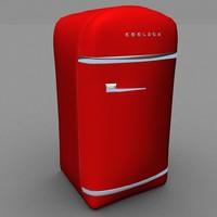 3d retro fridge
