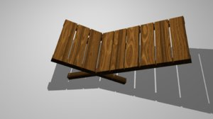 lazy chair 3d model