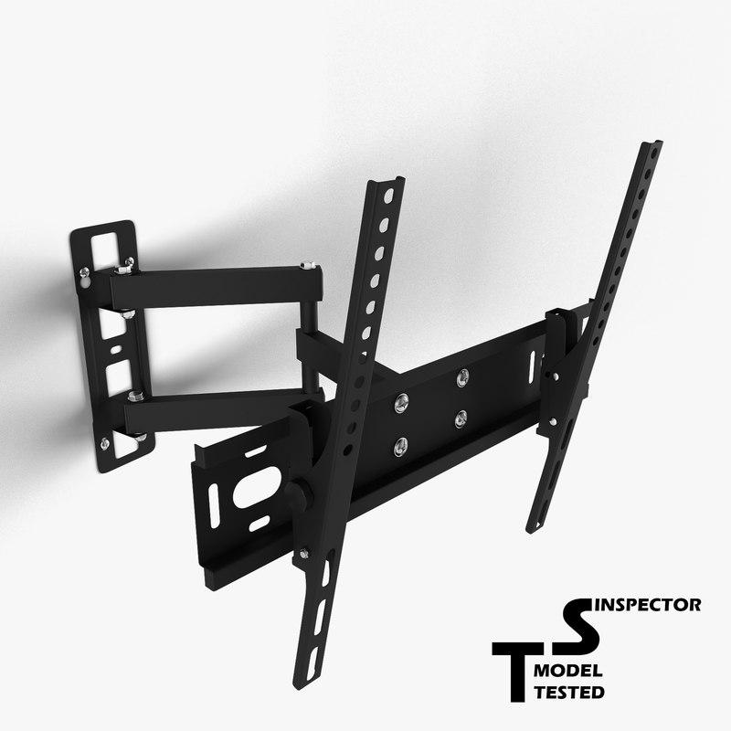 3d tv wall mount model