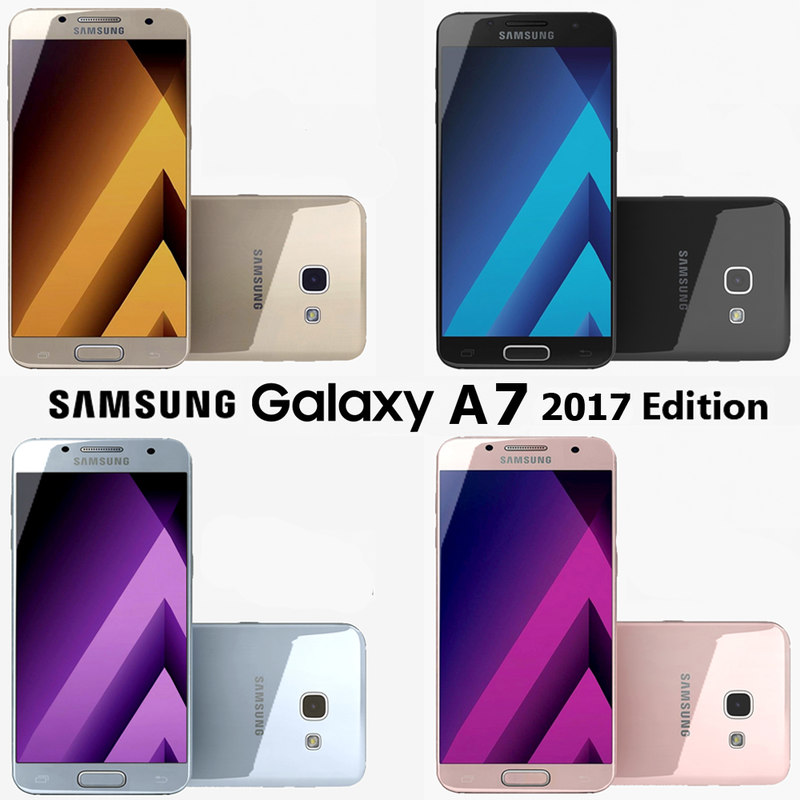 3d model samsung galaxy a7 colors