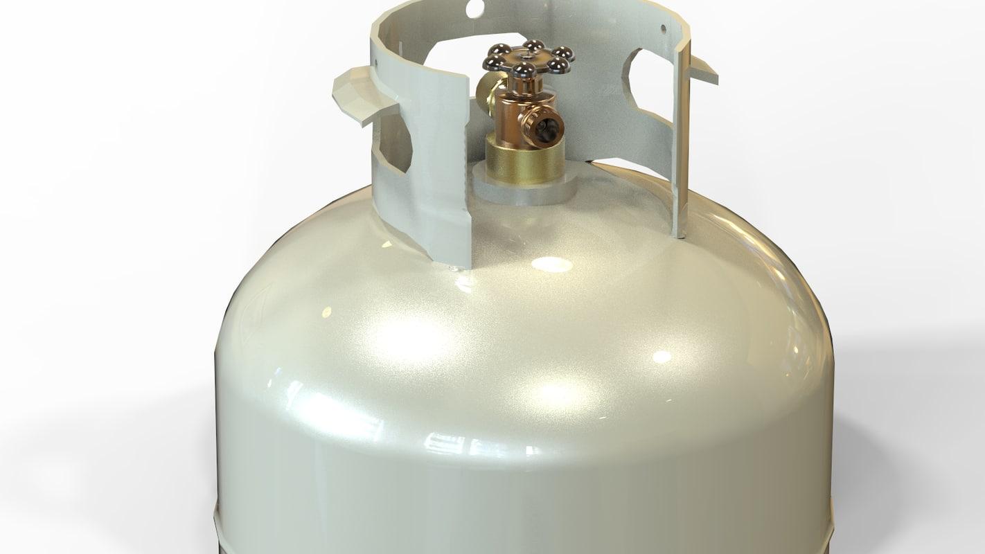 propane lpg tank 3d model