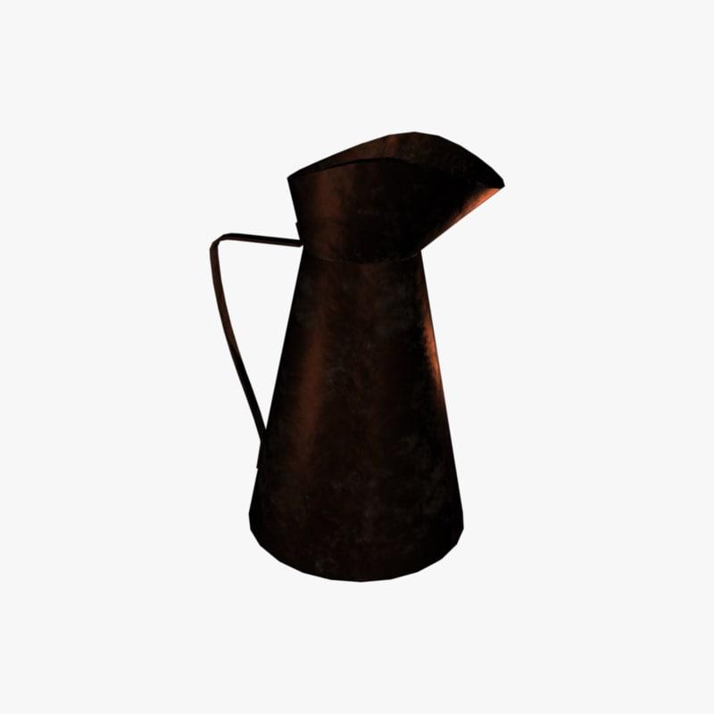 copper pitcher 3d fbx
