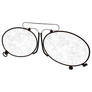 3d model eye glasses