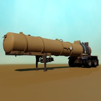 old pump tanker 3d model